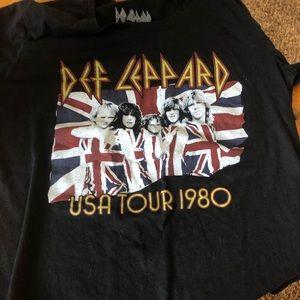 def leppard band t-shirt